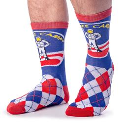 Space Camp Argyle Print Socks - ADULT