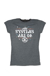 Systems Go Space Camp Girl JR Cap Sleeve Tee