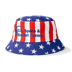 Stars & Striped Cotton Bucket Hat,28127