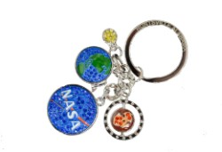 NASA Dangle Jewel Keychain