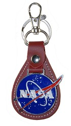 NASA Leather Keychain