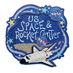 Beady Rocket Center Magnet