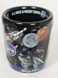 NASA 3D Raised Shot Glass