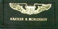 Leather Name Badge w/Wings