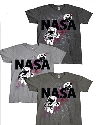 NASA Space Walk Adult Tee
