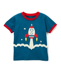Rocket Ship Shirt 2T