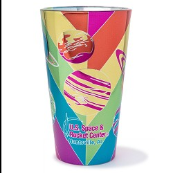 Rocket Center 16oz Metallic Pint