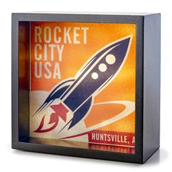 Orange Vintage Rocket City Light Box
