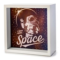 I Need More Space Astronaut Light Box