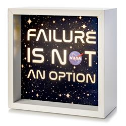 Failure Is Not an Option - NASA Light Box