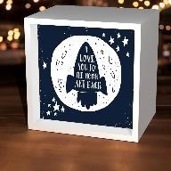 I Love You To the Moon Spaceship Light Box