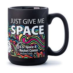 """Just Give Me Space "" Black Matte Mug"