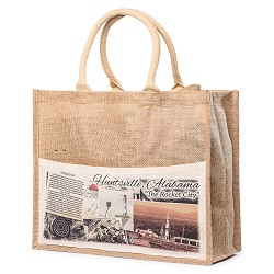 Vintage Jute Bag,ROCKET CITY USA,HJUBA-141