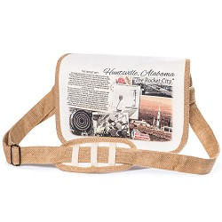 Messenger Jute Bag,ROCKET CITY USA,HJMBAG-0324
