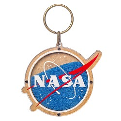 NASA Beaded Keychain