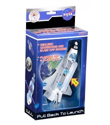 Pull Back Space Shuttle w/Lights & Sound,PBSB