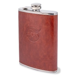 NASA Leather-Wrapped Flask