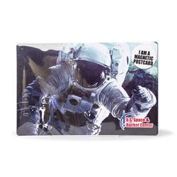 Astronaut in Space Magnetic Postcard
