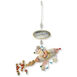 Santa's Space Rocket Ornament