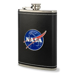 NASA Emblem Leather Flask