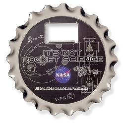 Not Rocket Science Coaster, Opener, Magnet