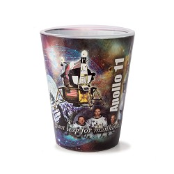 Apollo 11 Collage Shot Glass,50TH ANNIVERSARY,09/9251 IMP
