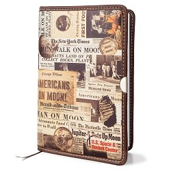 Newspaper Art Leather Journal
