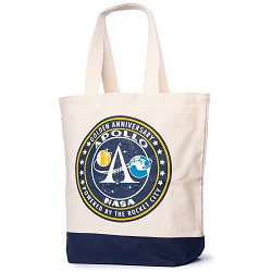 Apollo 50th Powered by Rocket City Tote Bag,50TH ANNIVERSARY,S135301/BG007