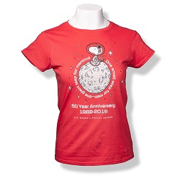 One Small Step Peanuts Ladies T-Shirt