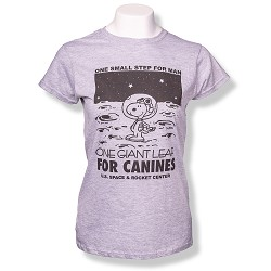 Canine Leap Peanuts Ladies T-Shirt