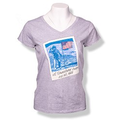 Astronaut Polaroid V-Neck T-Shirt