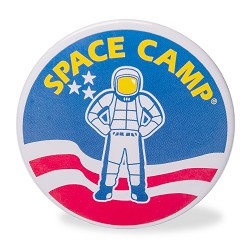 Space Camp Round Magnet