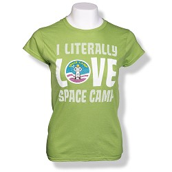 Literally Space Camp Jrs T-Shirt GREEN AS