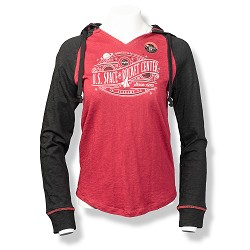 Rocket Center Steam Line Space P51 Women's Slub Raglan Hoody