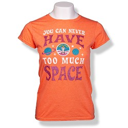 Too Much Space Camp Jrs Cap Sleeve T-Shirt