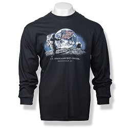 Night Moon Landing Long Sleeve T-Shirt
