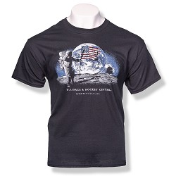 Night Moon Landing T-Shirt