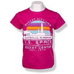 Rocket City Sunset Ladies T-Shirt