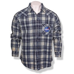 NASA Vector Plaid Button-Down Shirt
