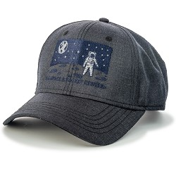 Night Scape Astronaut Melange Twill Cap,ROCKET CENTER,S131839/7368/PH182