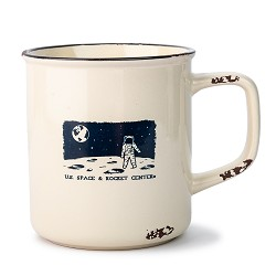 Night Scape Astronaut Distressed Camp Mug