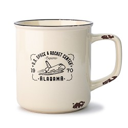 Shuttle Distressed Camp Mug