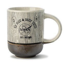 Rocket Center Solid Bottom Wood Grain Mug,S137981/7482/MS312