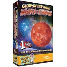 Glow In the Dark Mars & Stars,GLOWMARS
