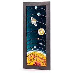 Planets Hand Painted Glass
