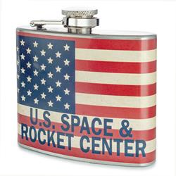 Rocket Center Flag Flask
