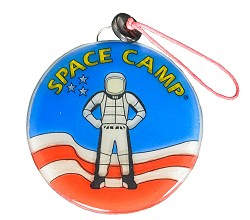 Space Camp Glass Ornament